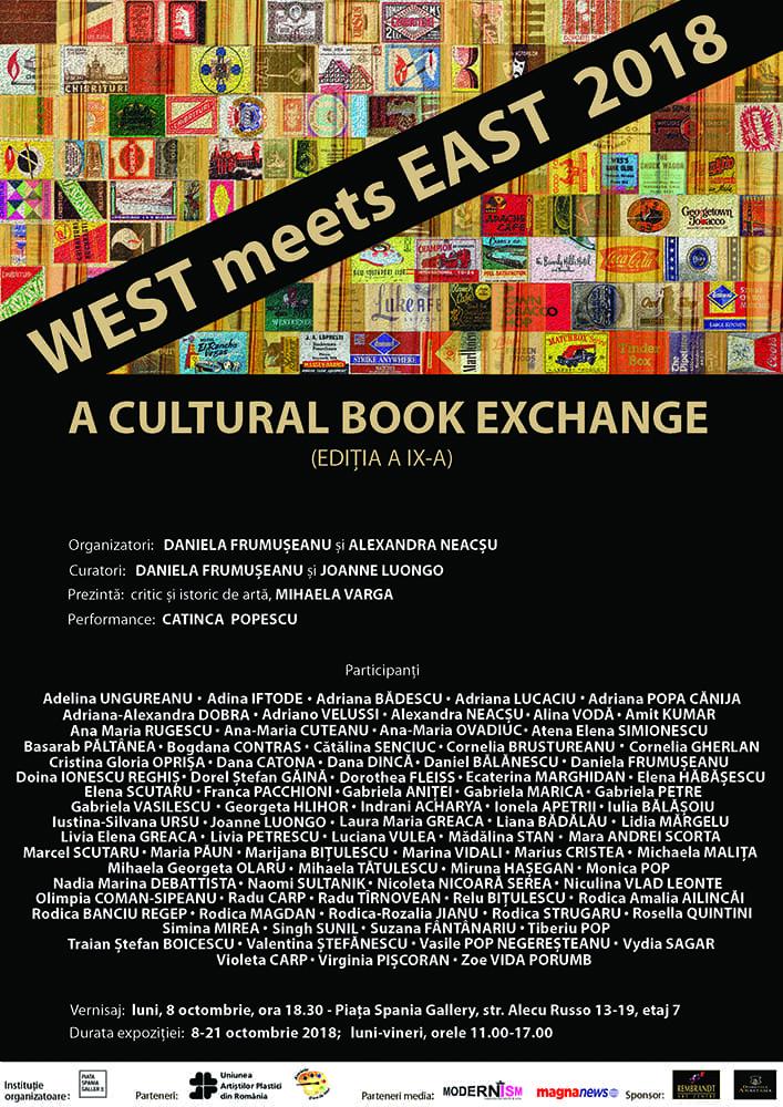 Expozitia internationala carte-obiect, WEST meets EAST, Piata Spania Gallery