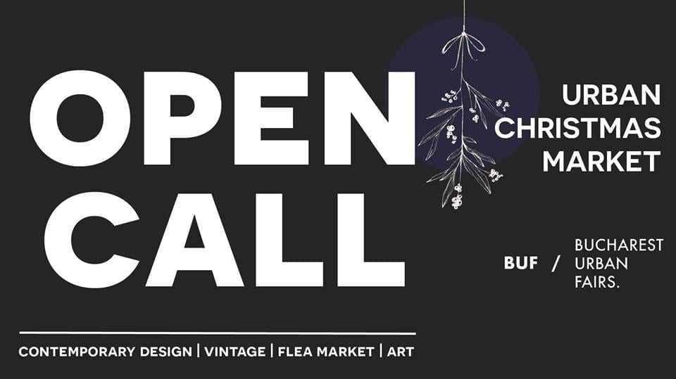 OPEN CALL for the born merchants - Urban Christmas Market