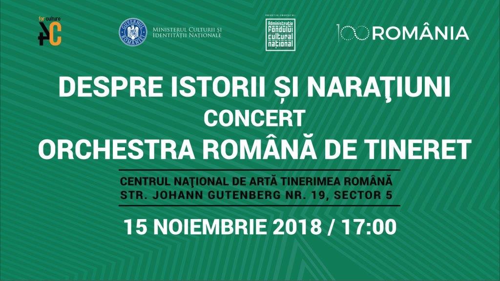 Evenimente dedicate reperelor culturale din România, cu ocazia Centenarului, în zilele de 14 și 15 noiembrie 2018