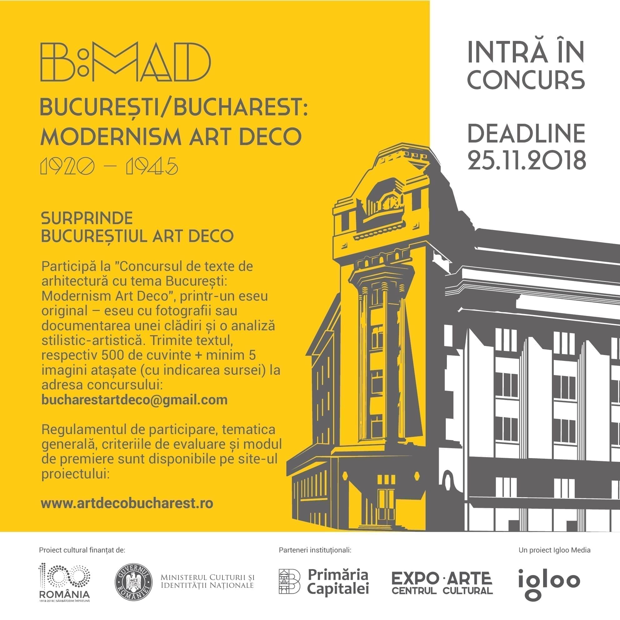 Concurs – Surprinde Bucureștiul Art Deco printr-un eseu cu fotografii