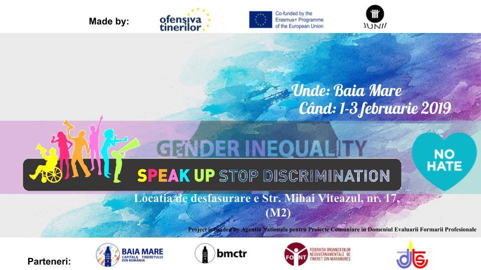 Speak YOUth STOP Discrimination Baia Mare