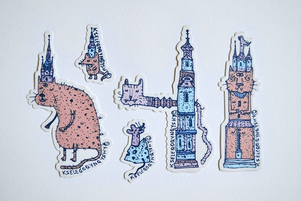 """Cats & Mice"" Stickers pack by Lucian Niță – KSELEQOQYNQYSHY"