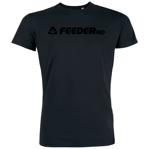 feeder.ro black logo organic round neck t-shirt