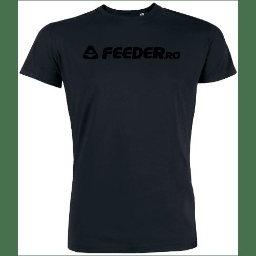 feeder.ro black logo organic round neck t-shirt