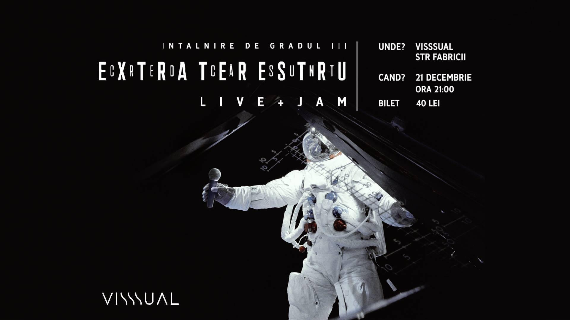Cred Că Sunt Extraterestru [LIVE + JAM] - Visssual
