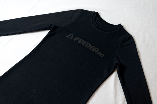 feeder.ro black logo organic cotton sweatshirt dress