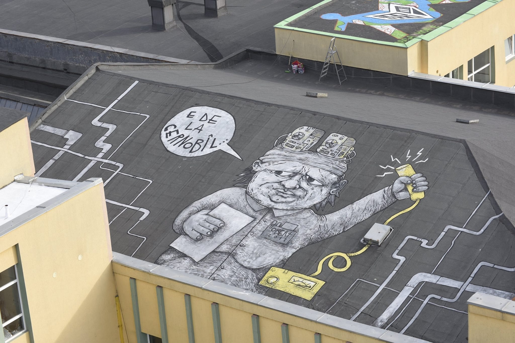 "Robert Obert - ""Cernobil lady"" / ""Giants of Pantelimon"", Bucharest. Photo credits: Martha Cooper"
