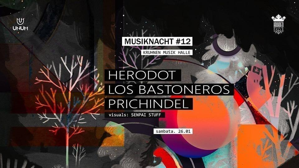 Musiknacht #12: Herodot, Prichindel, Los Bastoneros - 26.01