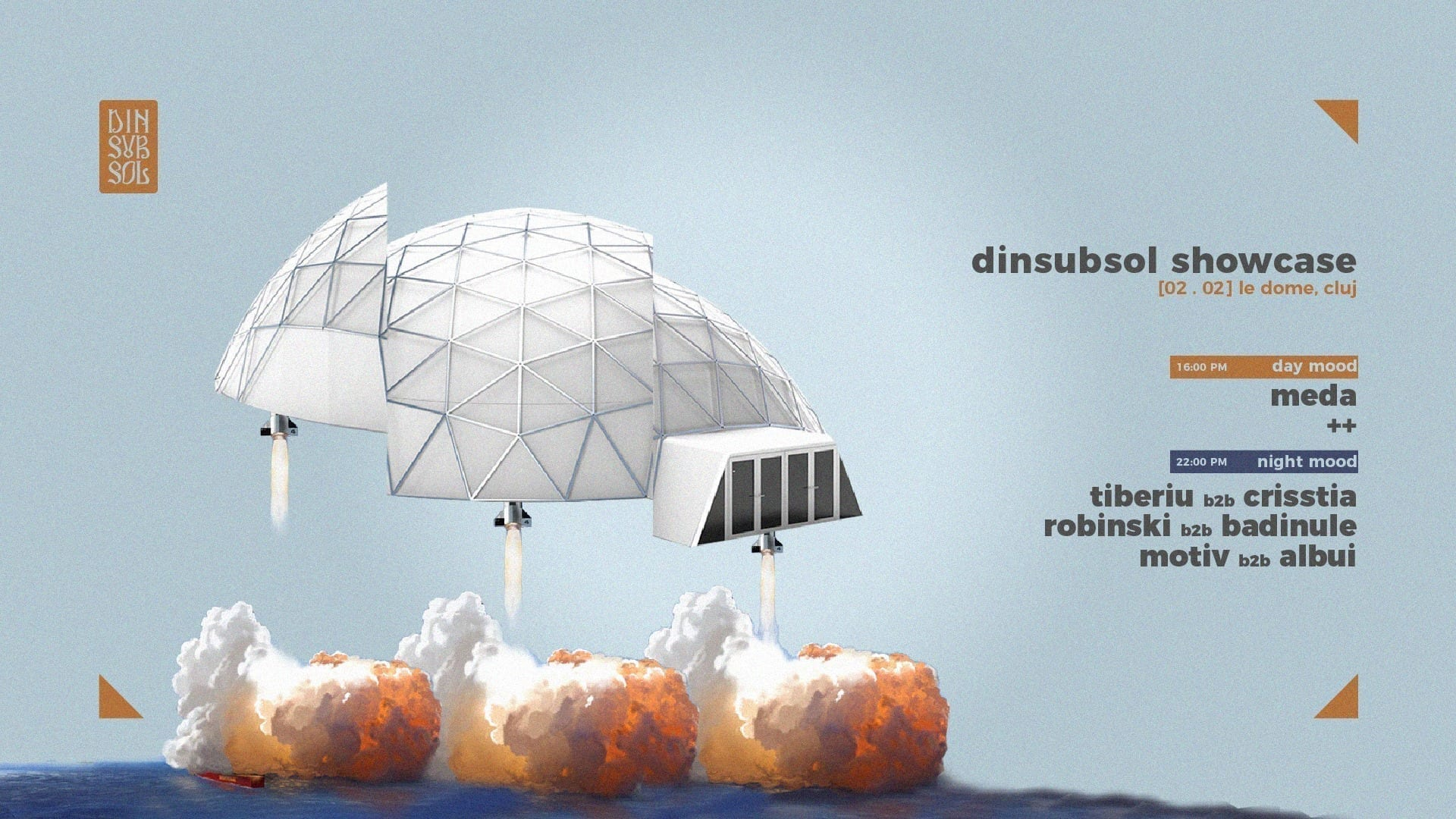 Dinsubsol showcase at Le Dome, Cluj