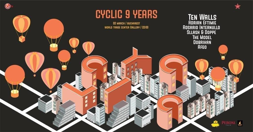 Cyclic 9 Years Anniversary in Bucharest