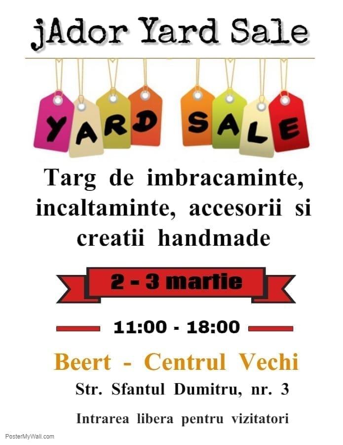 jAdor Yard Sale - targ de lucruri cu personalitate, pentru pasionatii de shopping!