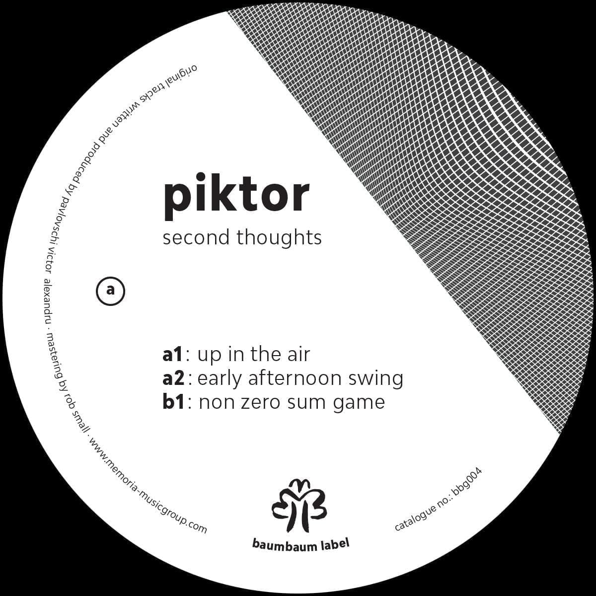 Piktor - Second Thoughts Baumbaum Label