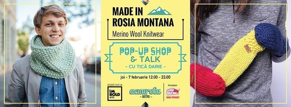 Pop-Up Shop & Talk: Made in Roșia Montană la Acuarela