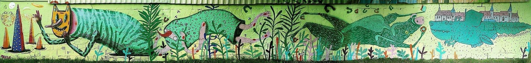Colaborare Mural - SUNSHINERS (MOUSE _ NIKKAWHY) - TUS - KSELEQOQYNQYSHY - Budapesta