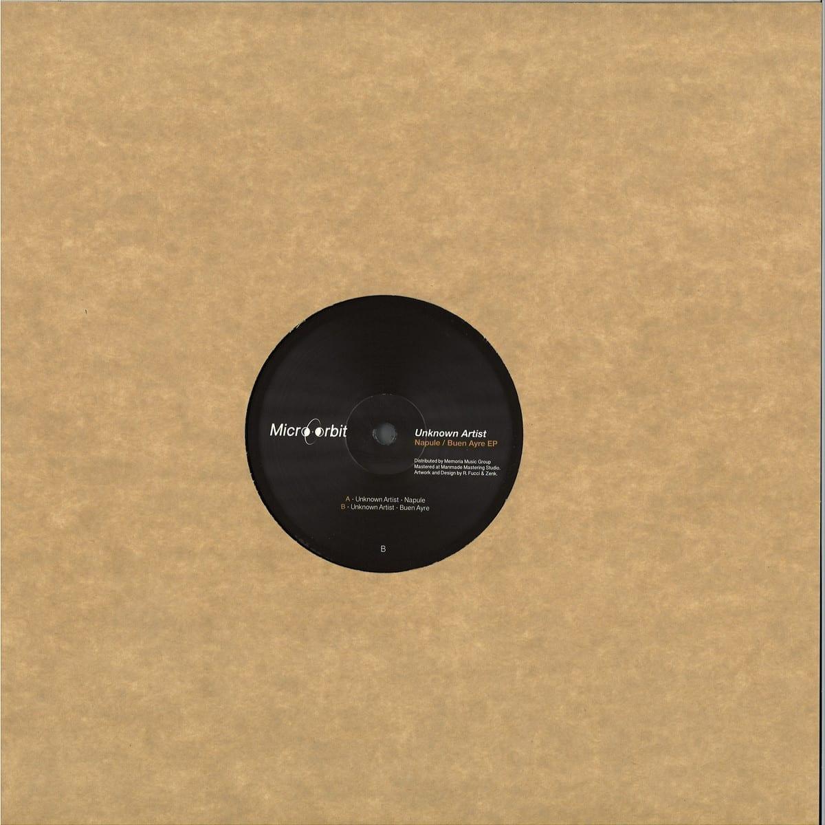 Unknown Artist - Napule Buen Ayre EP [Micro Orbit Records] back