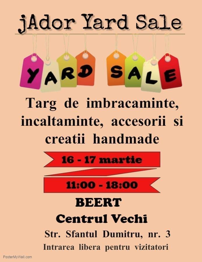jAdor Yard Sale - targ de lucruri cu personalitate, 16 - 17 martie