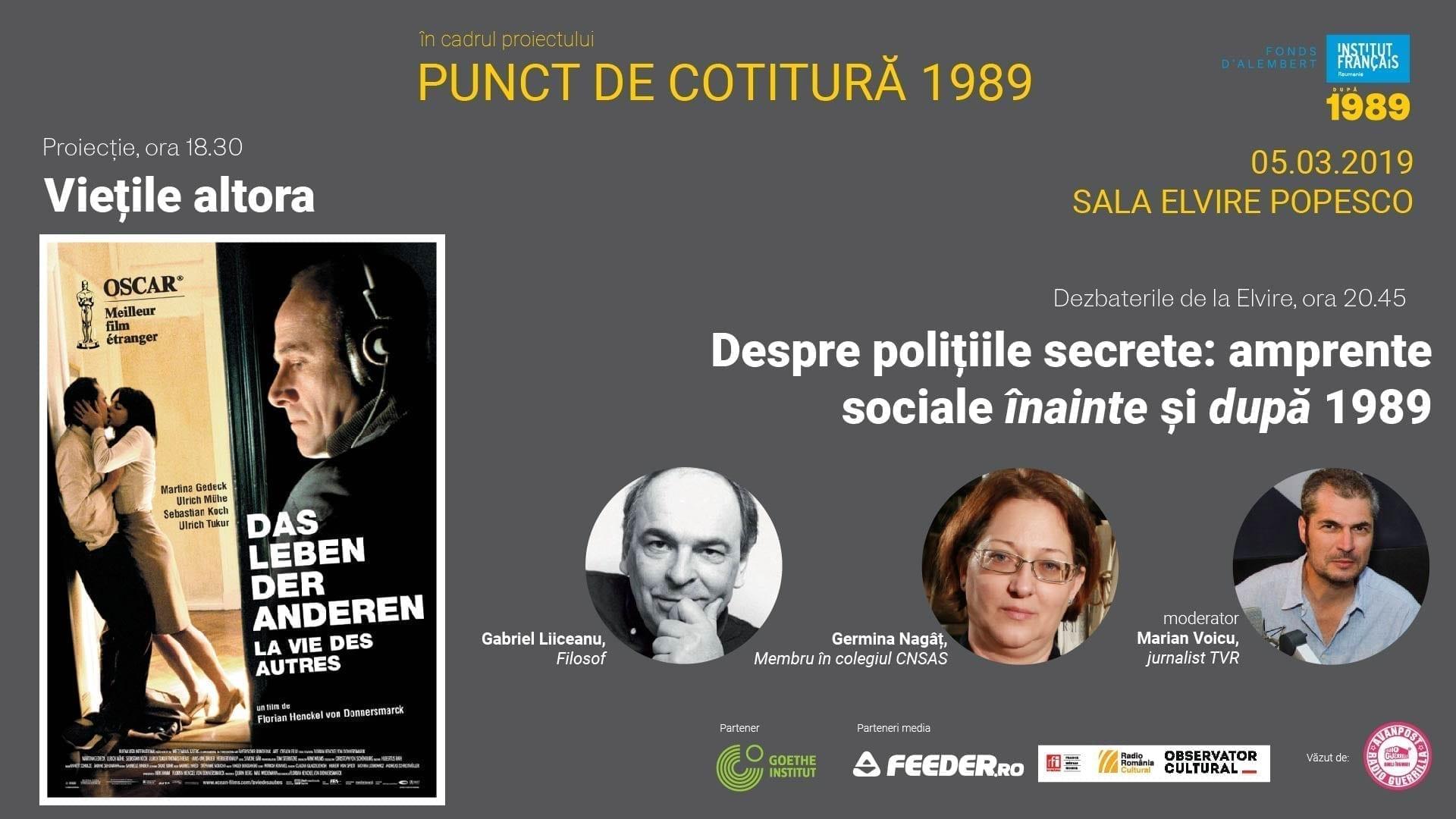 #Punct de cotitură 1989 :film și dezbatere la Sala Elvire Popesco