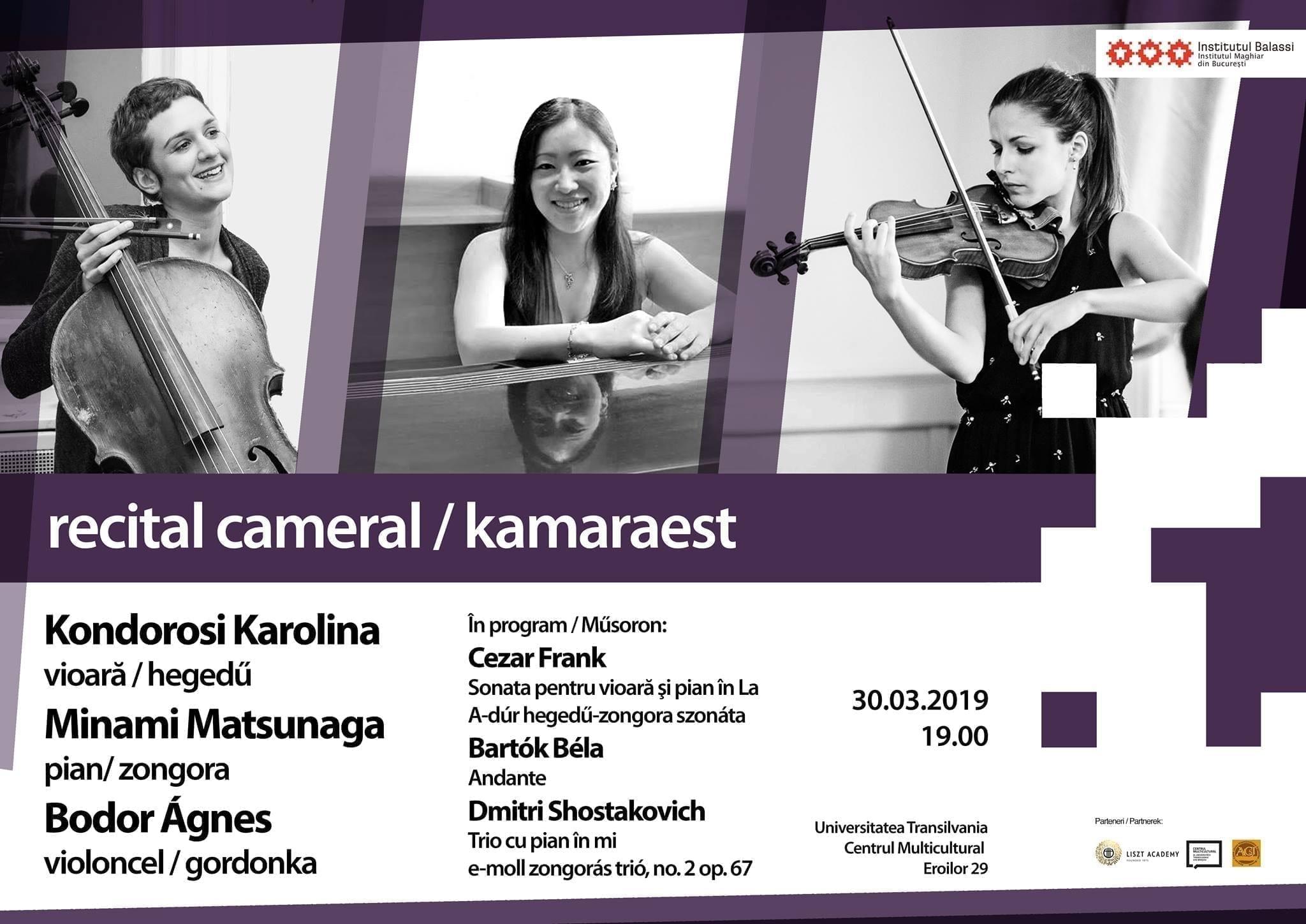 Recital cameră - Centrul Multicultural al Universității Transilvania din Brașov
