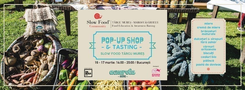 Slow Food Târgu Mureș: Pop-Up Shop, Talk & Degustare la Acuarela