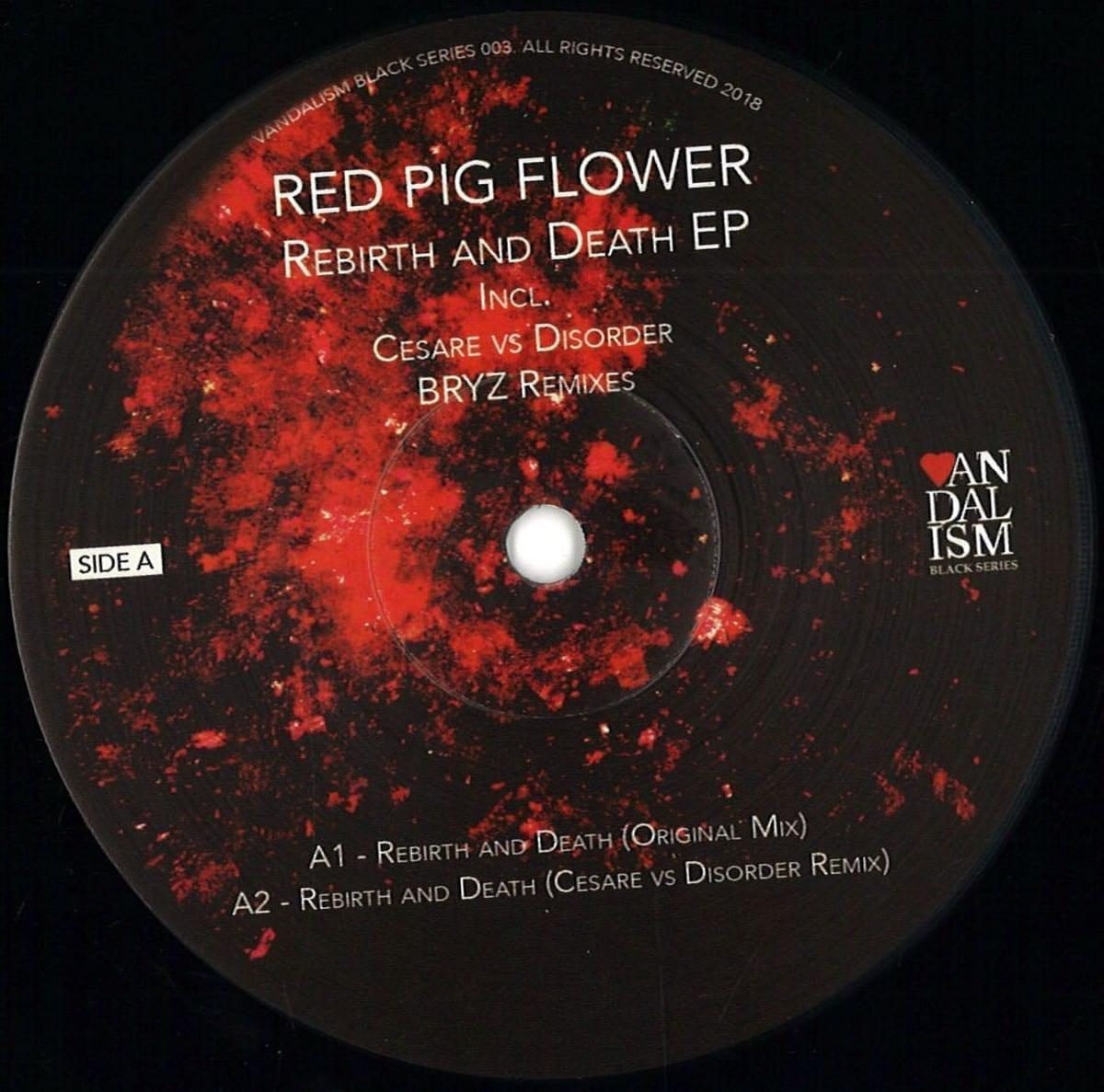 red pig flower - rebirth and death ep [vandalism black series] front