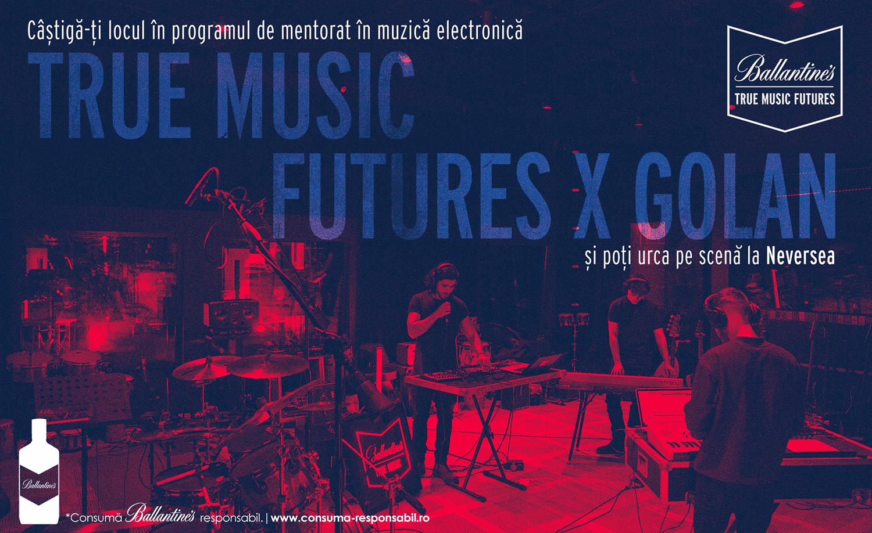 Hai în programul de mentorat Ballantine's True Music Futures și poți urca pe scenă la Neversea