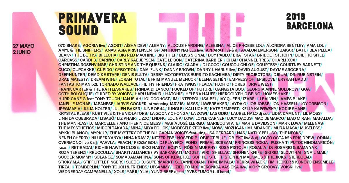 Primavera Sound 2019 Barcelona