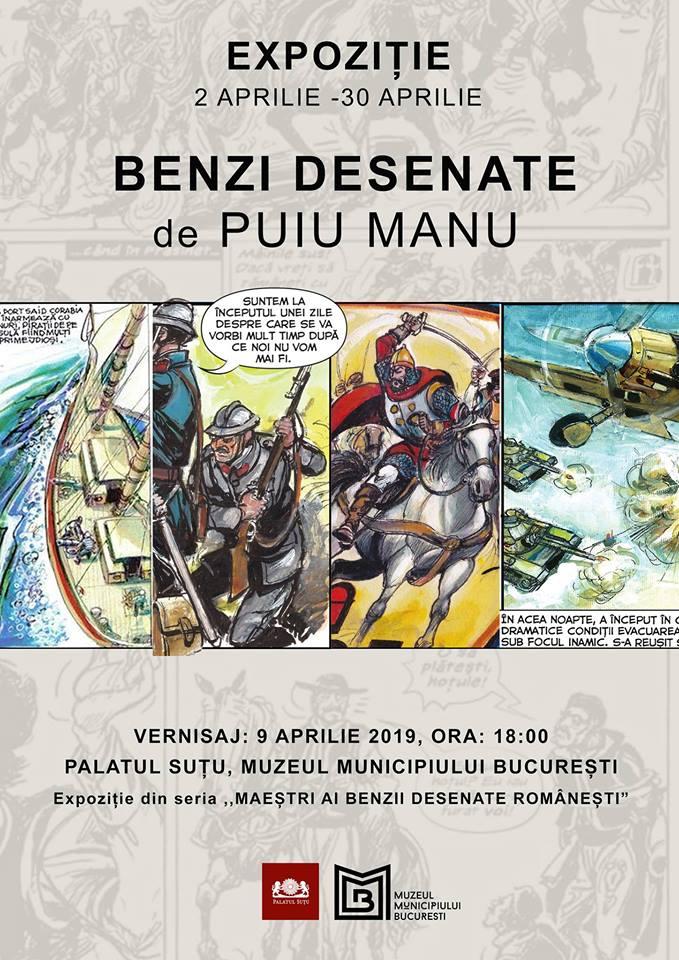 Vernisaj expoziție - Bandă desenată de Puiu Manu