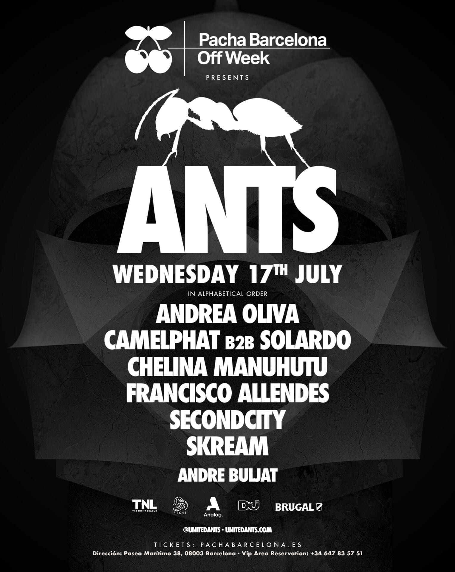ANTS ANNOUNCE PACHA SHOWCASE IN BARCELONA