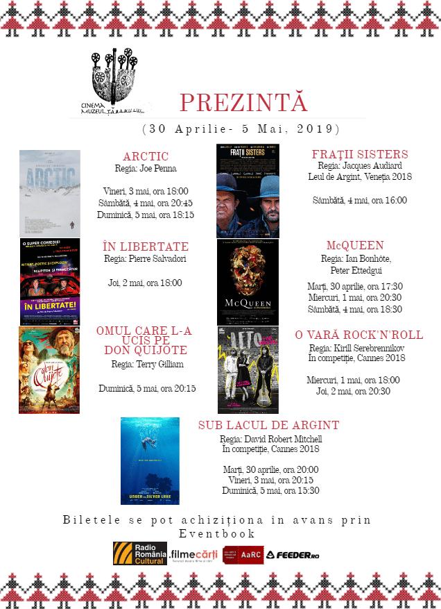 Program Cinema Muzeul Țăranului 30 Aprilie-5 Mai, 2019.