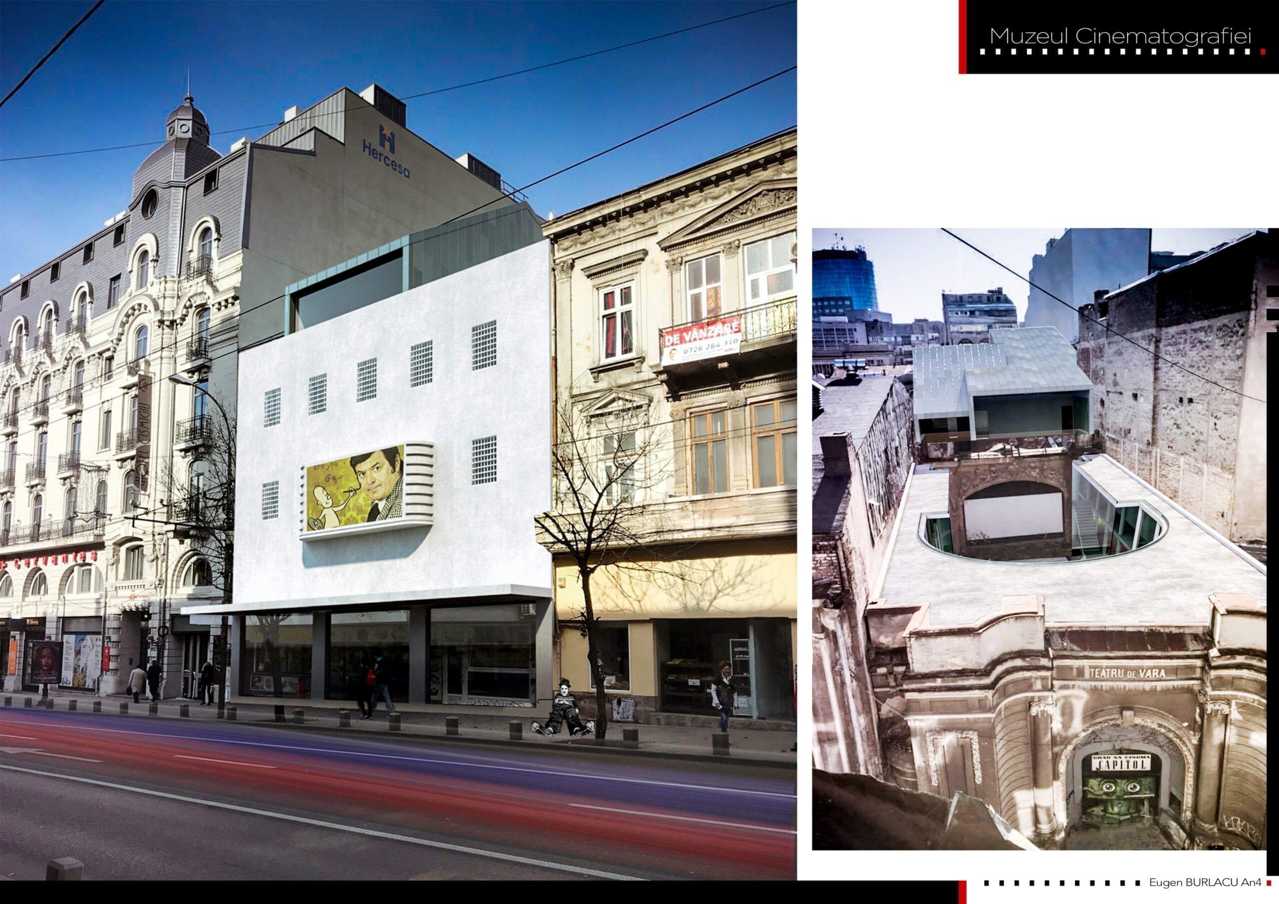 Eugen Burlacu - proiect Cinema Teatrul de vară CAPITOL