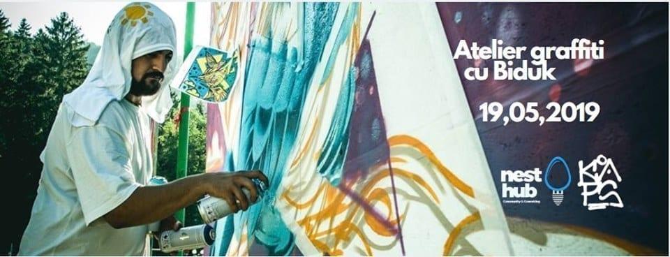Atelier graffiti cu Biduk