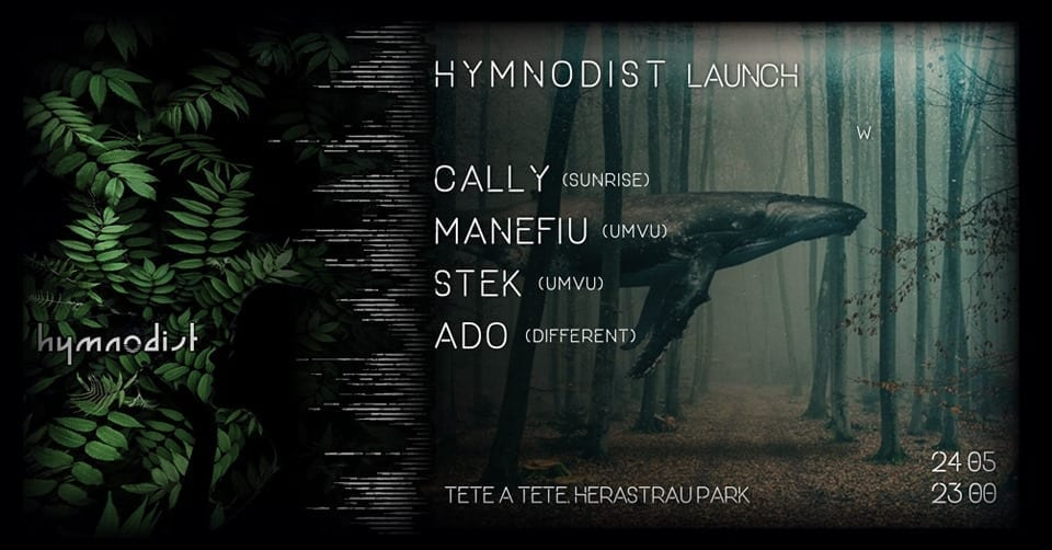 Hymnodist Launch w. caLLy, Manefiu, Stek, Ado