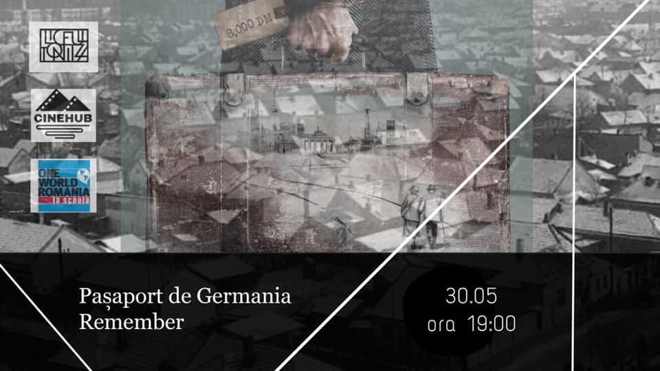 "AdDOC#3- proiecție de film ""Remember"" + ""Pașaport de Germania"""