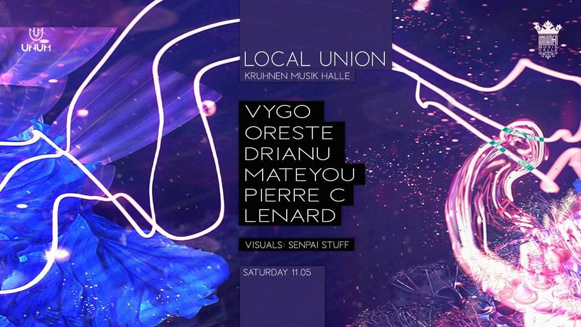 UNUM's Local Union w/ Vygo / Oreste / Drianu / Mateyou / Pierre C / Lenard @ Kruhnen Musik Halle Brasov