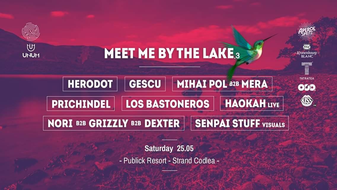Meet me by the lake.3 w/ Herodot / Gescu / Mihai Pol b2b Mera / Prichindel / Haokah (live) / Nori b2b Grizzly b2b Dexter @ Publick Resort - Ștrand Codlea, Brașov