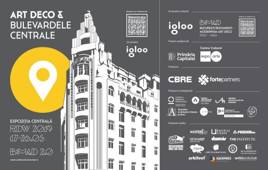 """B:MAD – București: Modernism Art Deco își consolidează misiunea de a celebra și de a promova patrimoniul modernist Art Deco din București prin etapa """"B:MAD 2.0: Art Deco & Bulevardele Centrale"""", un proiect al Asociației Igloo Habitat și Arhitectură"""