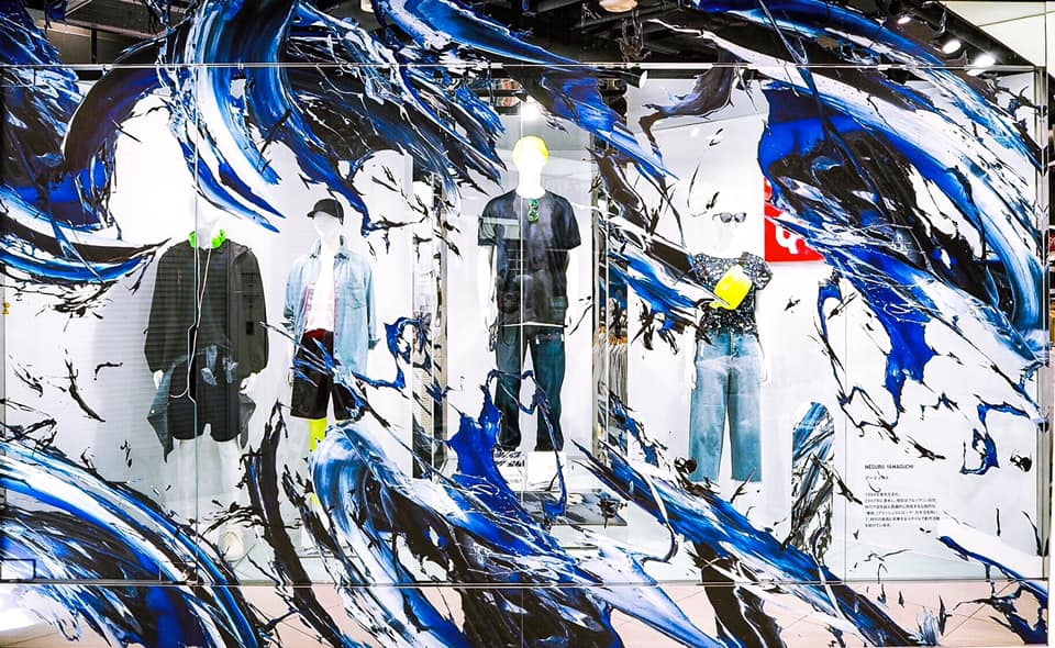 UNIQLO x Meguru Yamaguchi SHIBUYA, DOUGENZAKA store TOKYO, JAPAN.