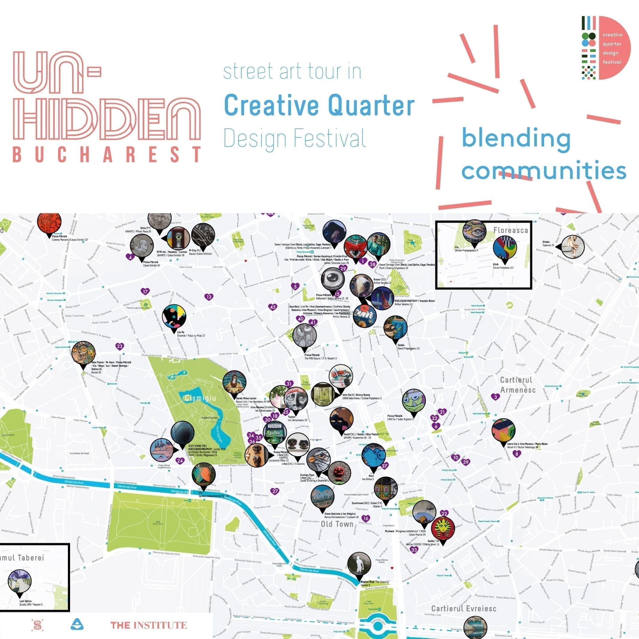 Un-hidden Bucharest - street art tour Creative Quarter Design Festival