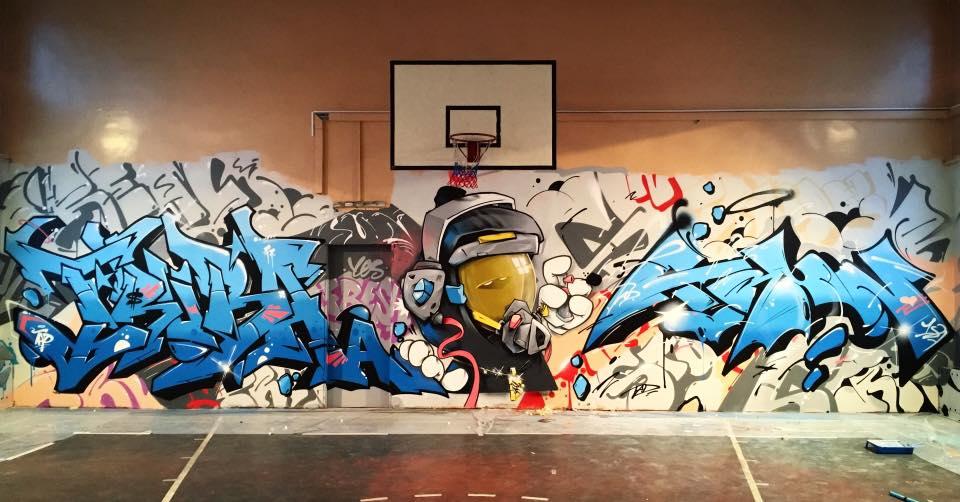 Trun - Wall with Truba and Zak for Staraja Shkola Jam