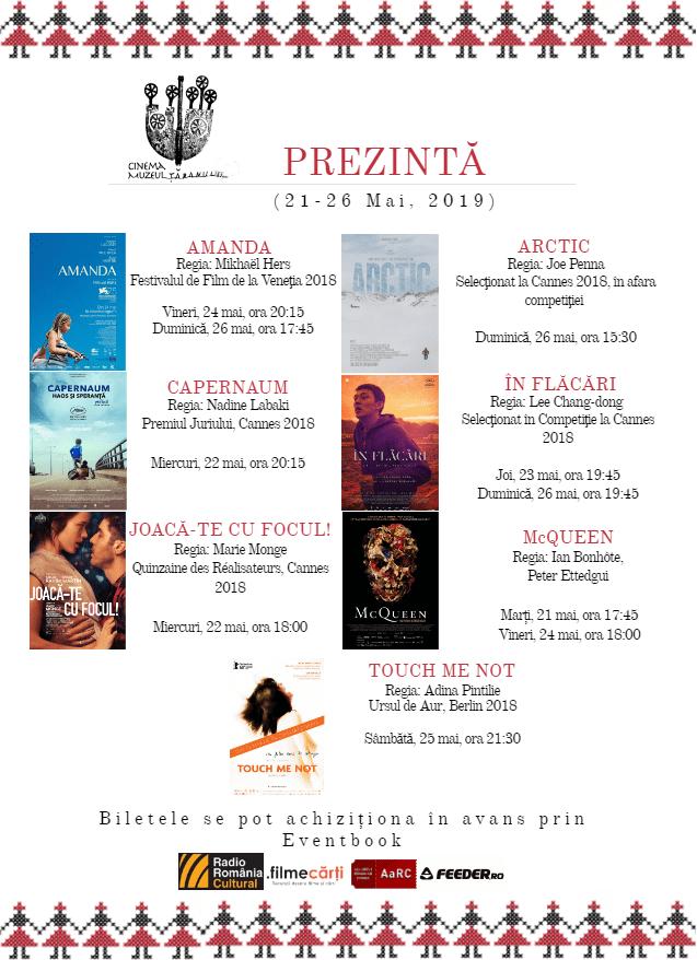 Program Cinema Muzeul Țăranului 21-26 mai, 2019