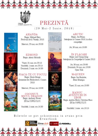 Program Cinema Muzeul Țăranului 29 Mai-2 Iunie, 2019