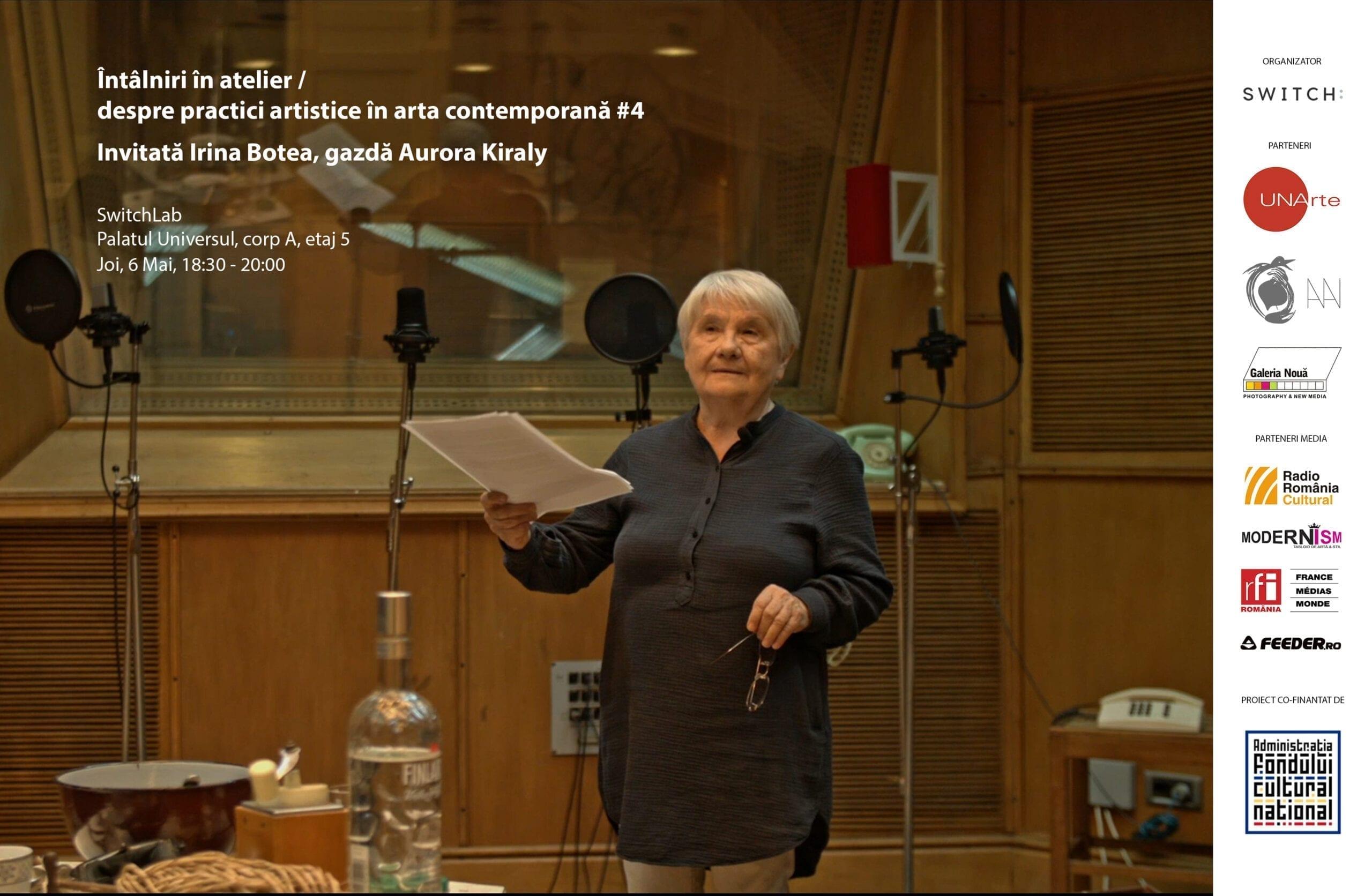 Întâlniri în atelier #4_Invitată Irina Botea Bucan