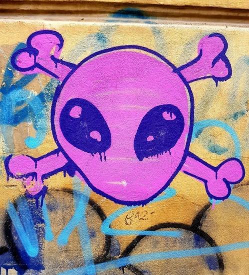 Cap de mort pink ET pe Dionisie Lupu