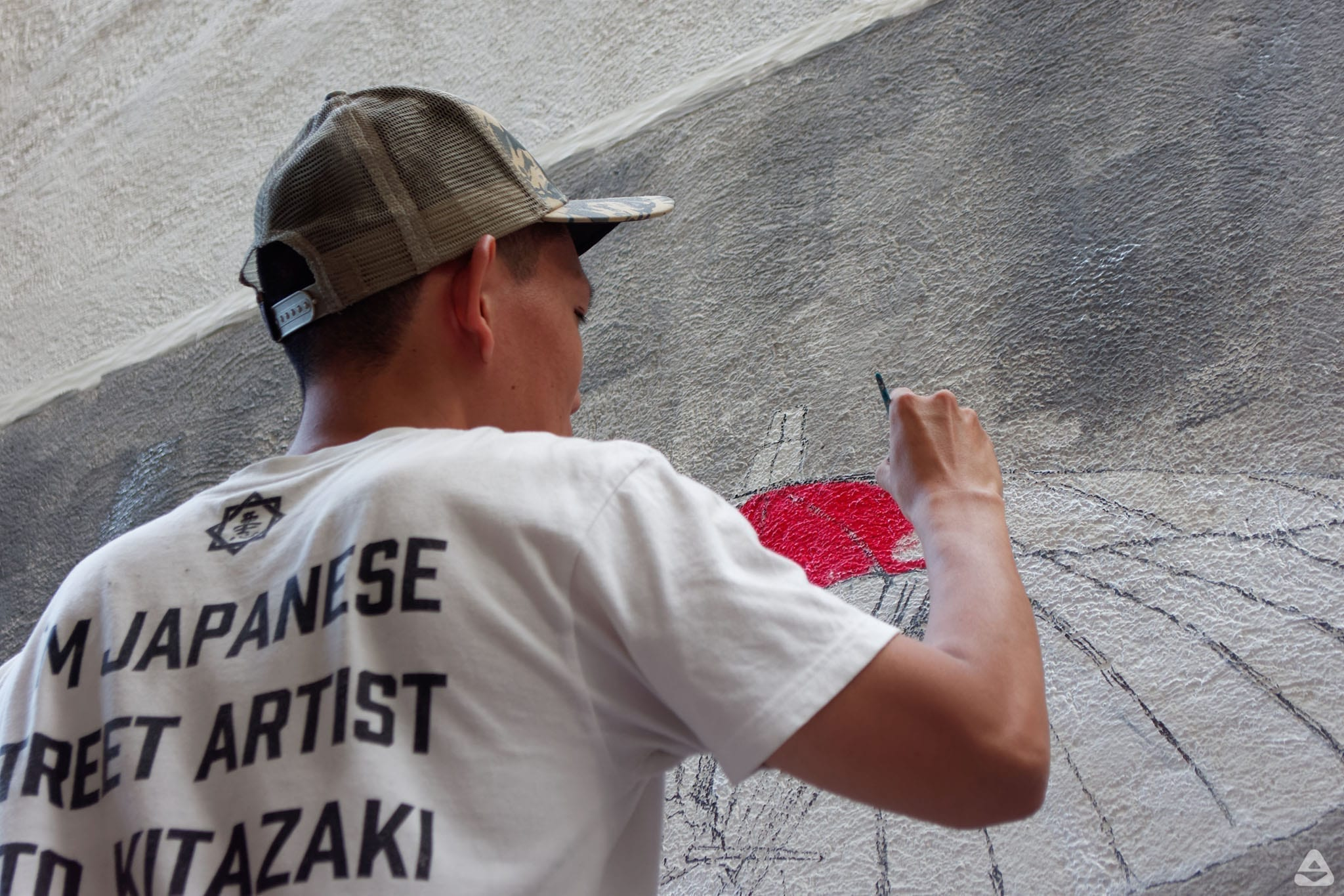 Japanese street artist Aito Kitazaki at Lente day 1