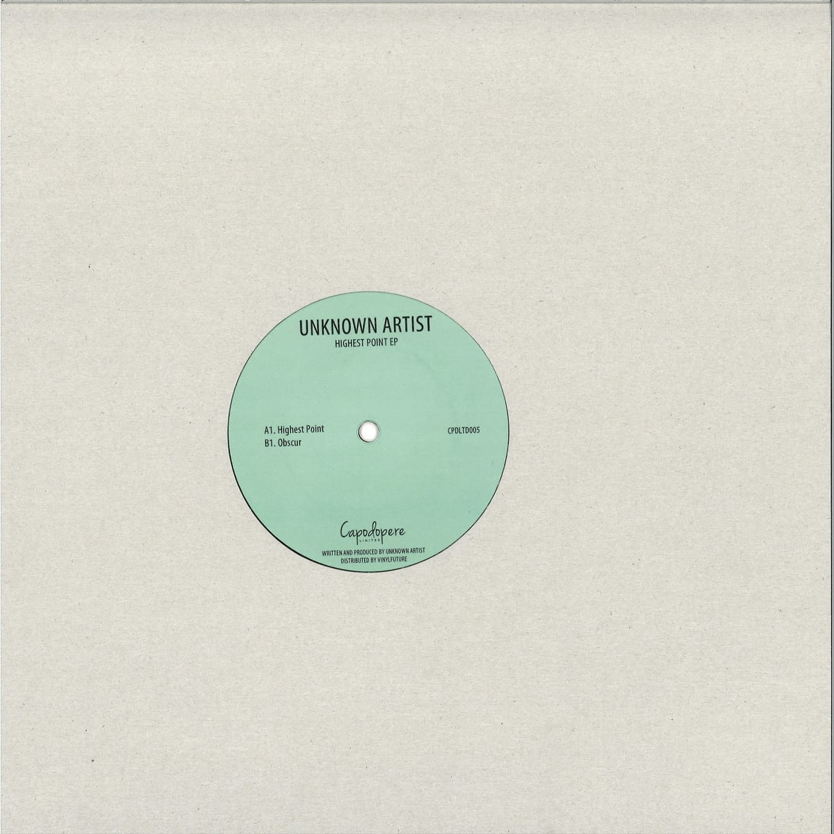 Unknown Artist - Highest Point EP [Capodopere] side a