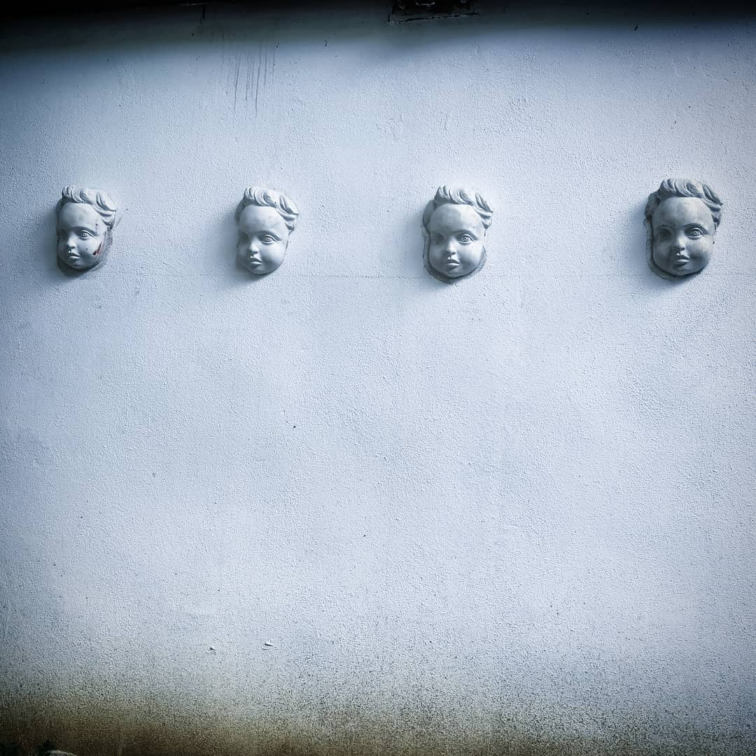 ArtHalle Angel faces in our garden by GEANA