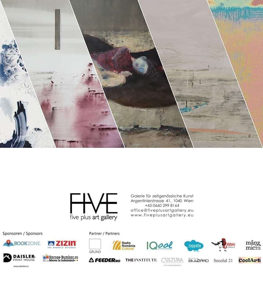 Five painters of the Romanian artist group GRUND show their latest works at Five Plus Art Gallery Vienna