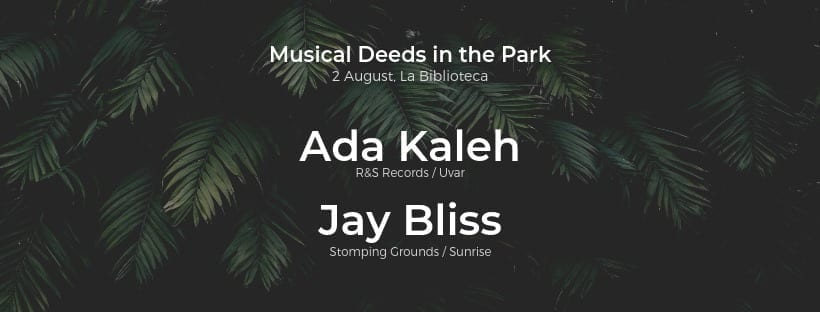 Musical Deeds in the Park: Ada Kaleh & Jay Bliss