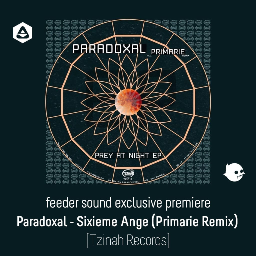 feeder sound exclusive premiere: Paradoxal - Sixieme Ange (Primarie Remix) [Tzinah Records] article cover