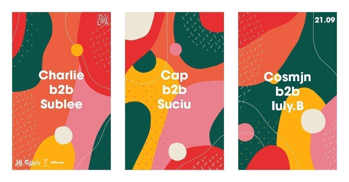 Cap b2b Suciu, Charlie b2b Sublee, Cosmjn b2b Iuly.B @Dubla Iași